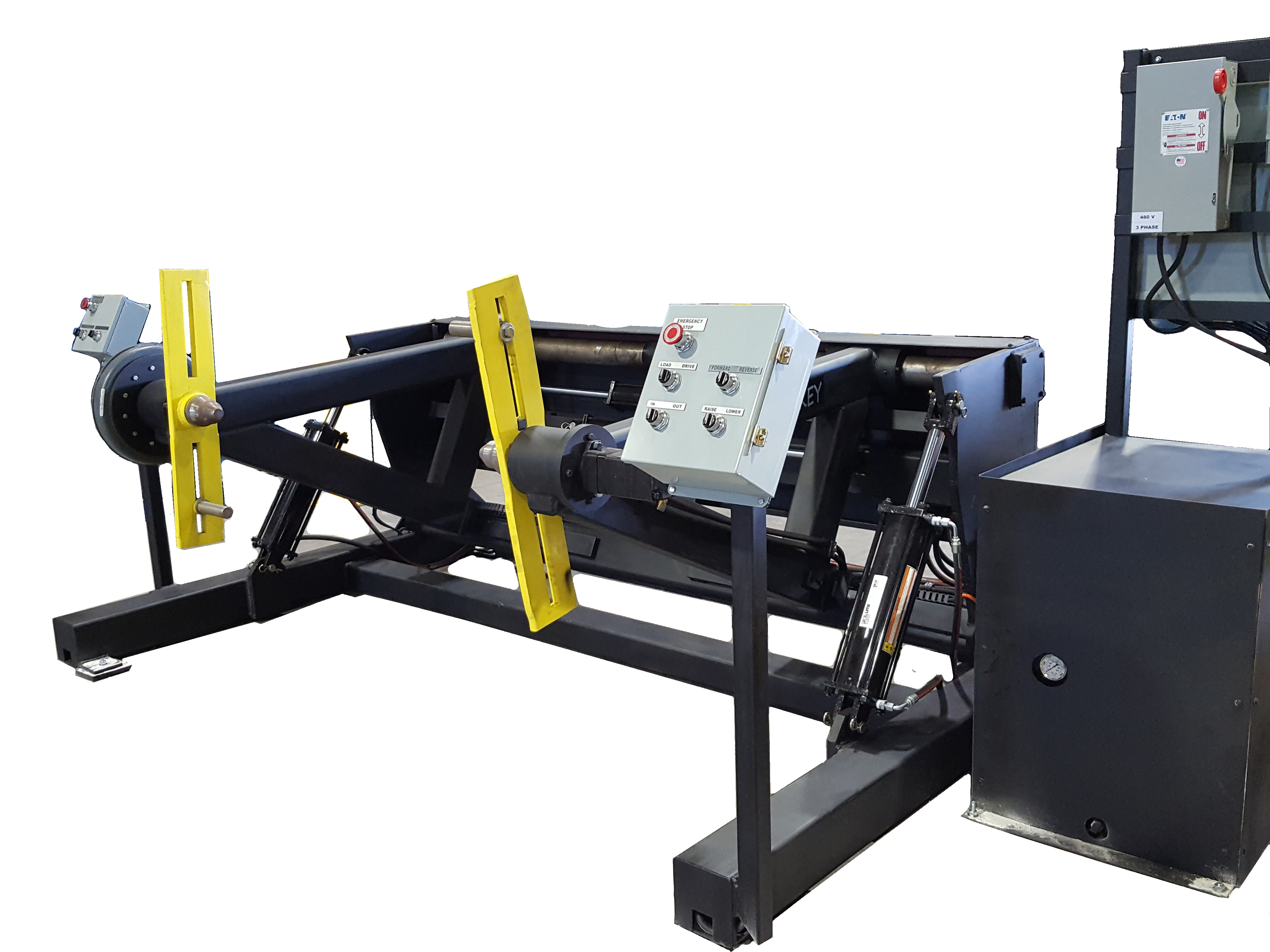 shaft-less reel handling equipment